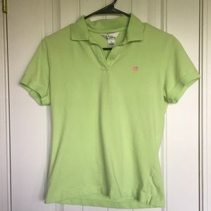 Lilly Pulitzer Line Green Polo Size Medium